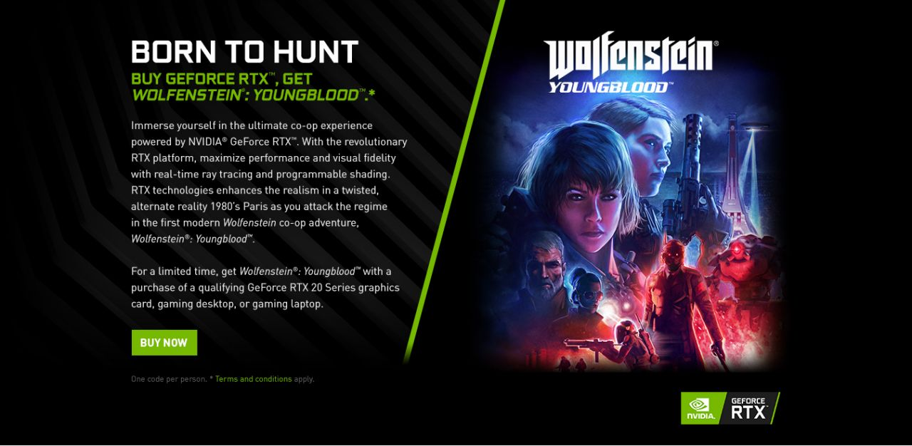 Wolfenstein: Youngblood - Geforce RTX Bundle