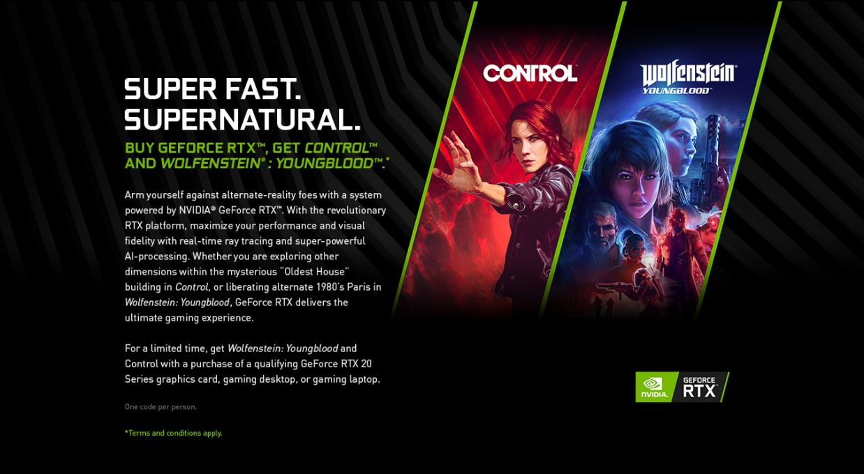 Wolfenstein: Youngblood PLUS COntrol - Geforce RTX Bundle