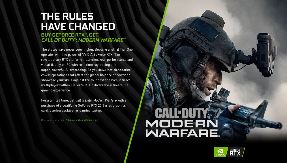 Call Of Duty: Modern Warfare - Geforce RTX Bundle