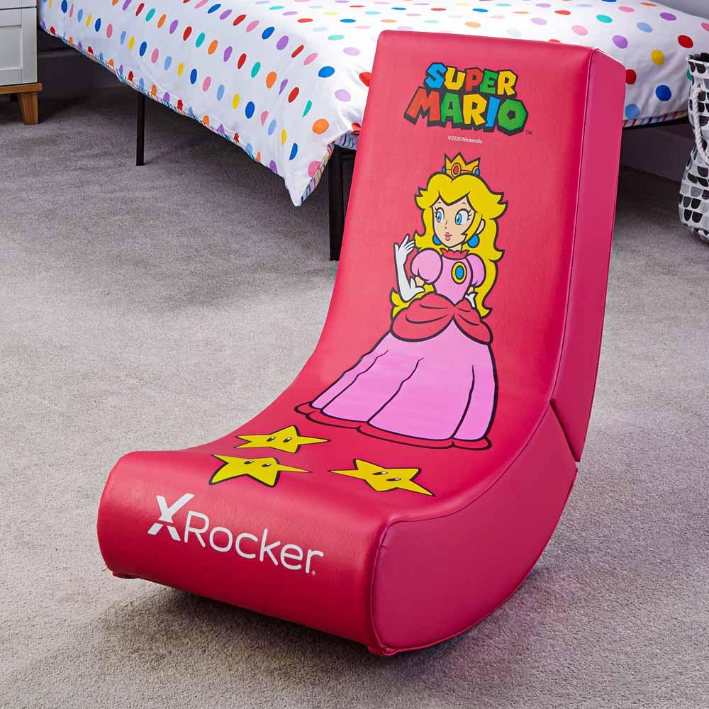 X-Rocker Nintendo Video Rocker Super Mario All-Star Peach Gaming Chair - Screenshot 5
