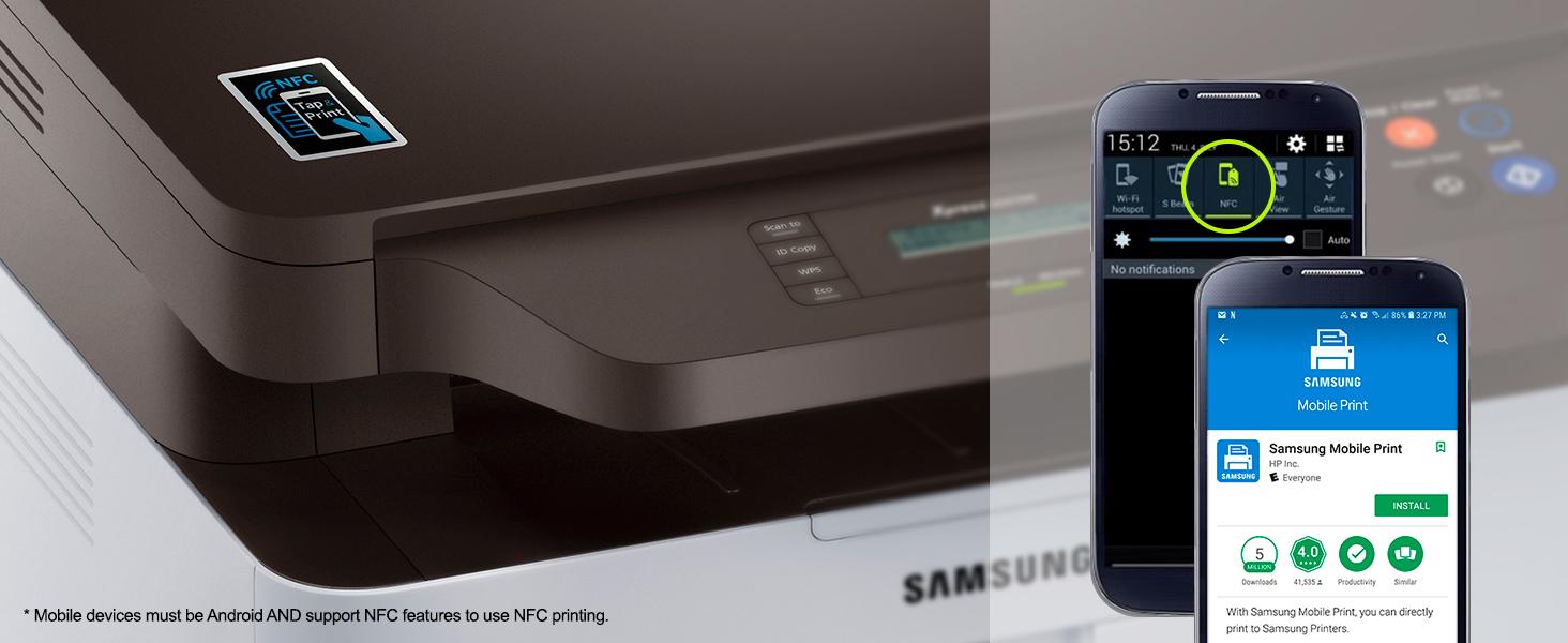 nfc printing samsung mobile print app
