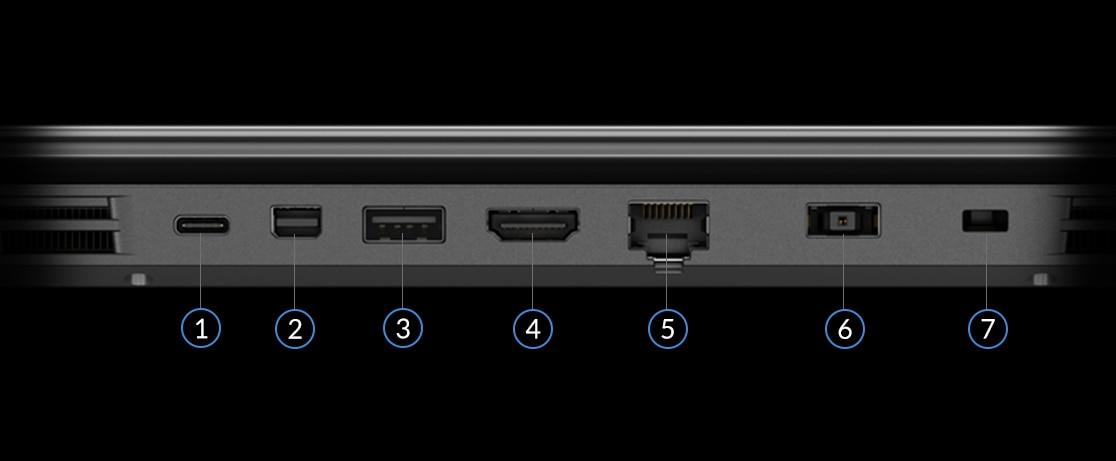 Lenovo Legion Y530 gaming laptop - close shot of ports