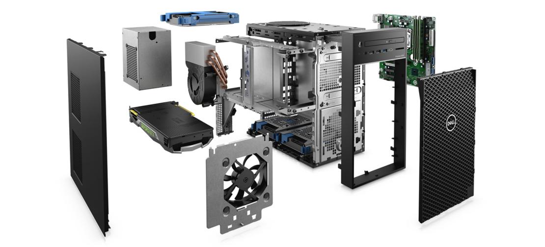 Dell Precision 3630 Tower, Intel Xeon E-2136, 16GB DDR4 RAM, 1TB HHD, NVIDIA Quadro P620, 2GB, Windows 10 Pro for Workstations - D-PRE-T3630-20 5