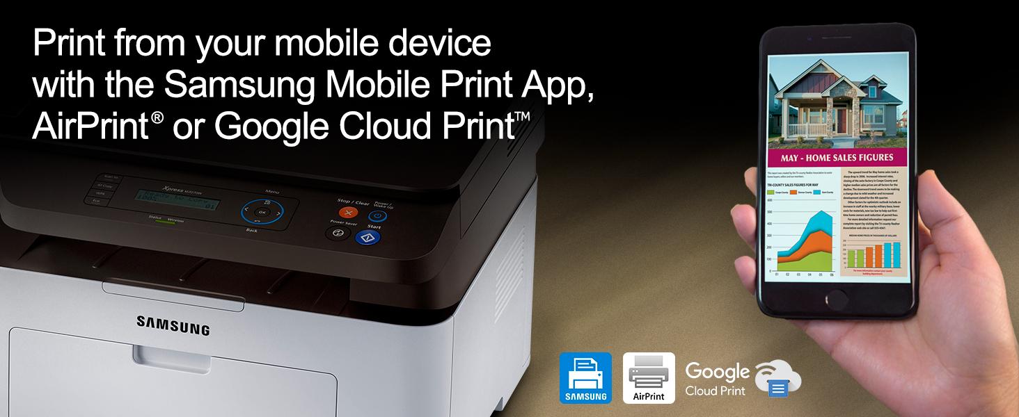 airprint google cloud print wireless direct
