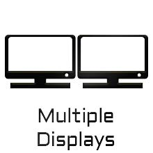 multiple display, output