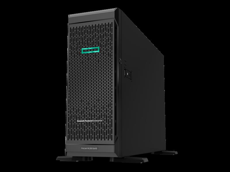 HPE ProLiant ML350 Gen10 4210 1P 16GB-R P408i-a 8SFF 1x800W RPS Server Hero