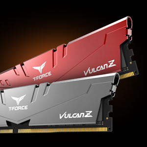 TEAMGROUP T-Force VulcanZ DDR4 16GB Kit (2 x 8GB) 2666MHz (PC4 21300) CL18 Desktop Memory Ram Red