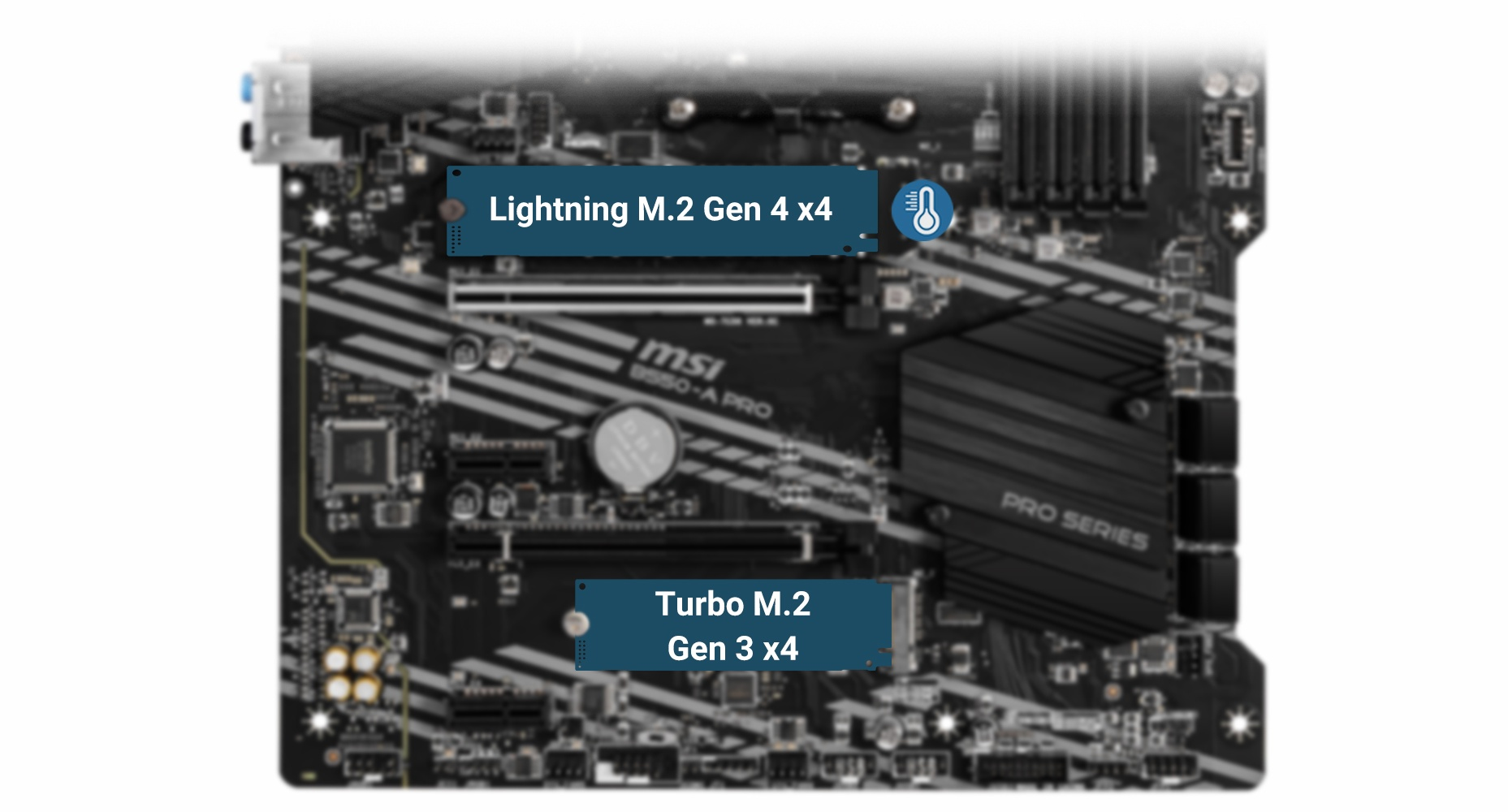 LIGHTNING GEN4 of the motherboard