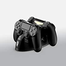 Swiftly charge two PS4™ controllers via EXT port