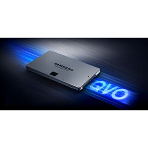 Samsung Solid State Drive QVO - Sequential reads up to 550 MB/s and writes up to 520 MB/s