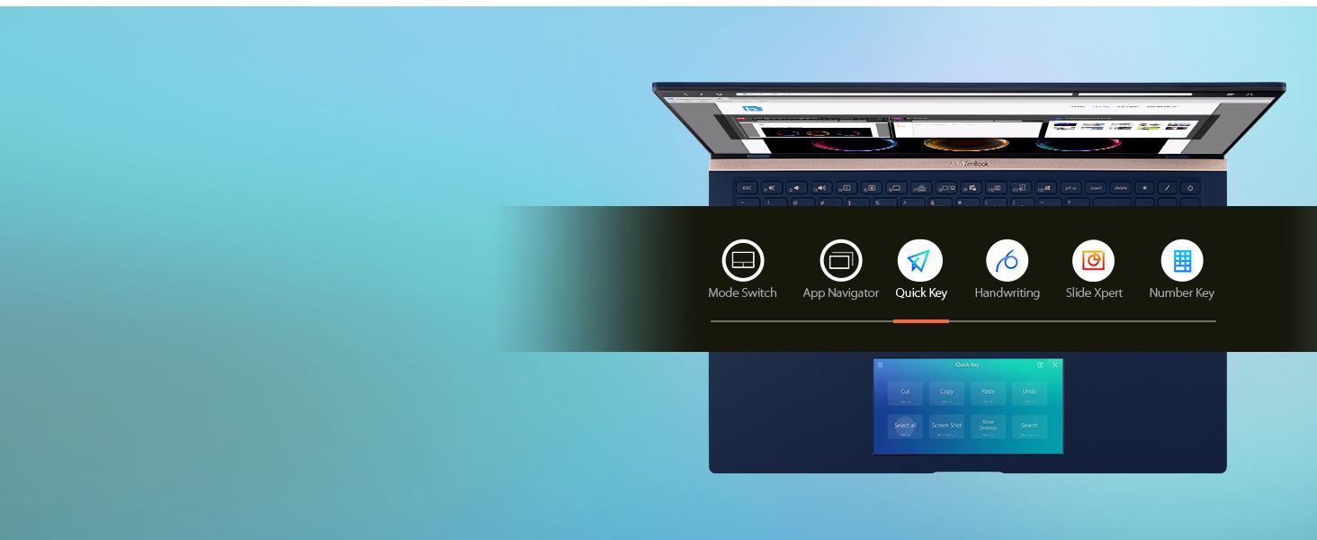 ScreenPad 2.0: Quick Key