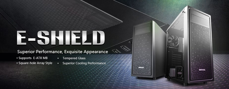Deepcool E-SHIELD Tempered Glass Mid-Tower E-ATX Case - Desktop Overview 1
