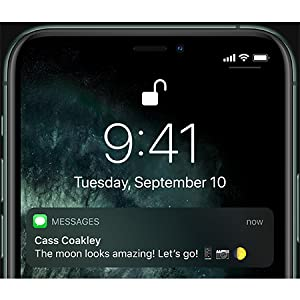 Apple MWHH2AE/A iPhone 11 Pro Max without FaceTime - 64GB, 4G LTE, Midnight Green