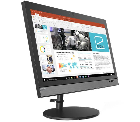 Side view of Lenovo V330 AIO display