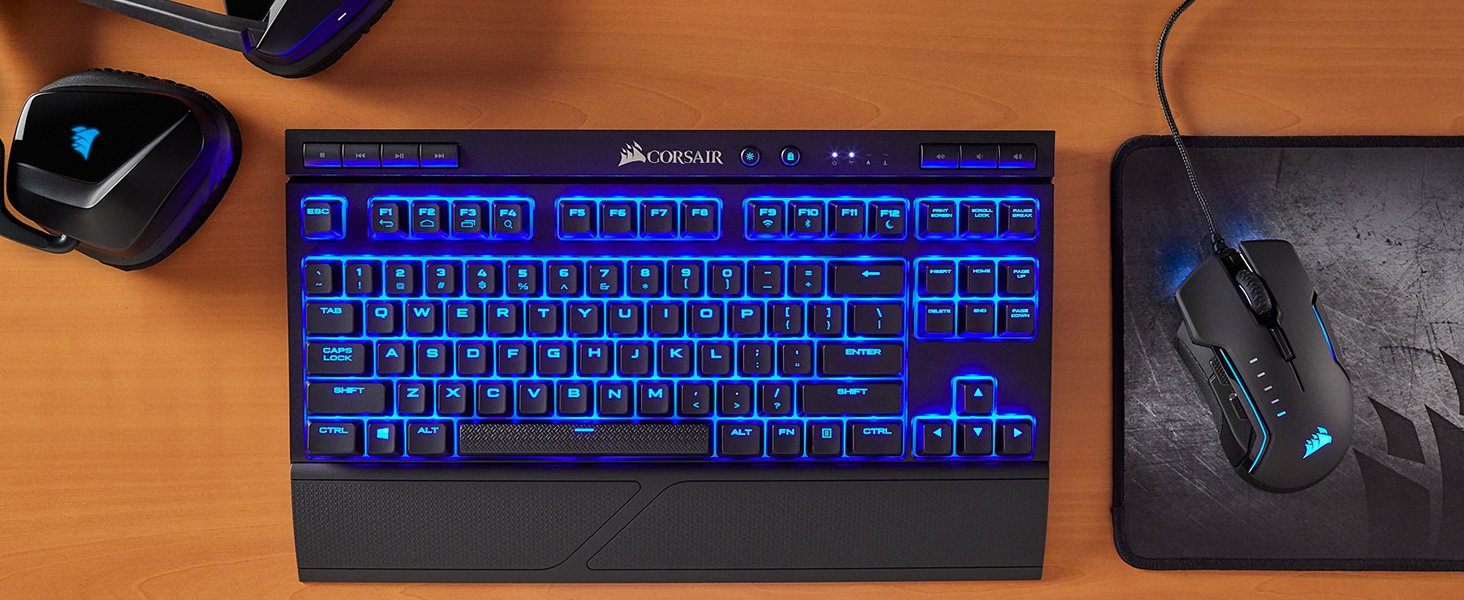 Corsair K63 Wireless Mechanical Gaming Keyboard — Blue LED — Cherry MX Red  | CH-9145030-NA Buy, Best Price. Global Shipping.