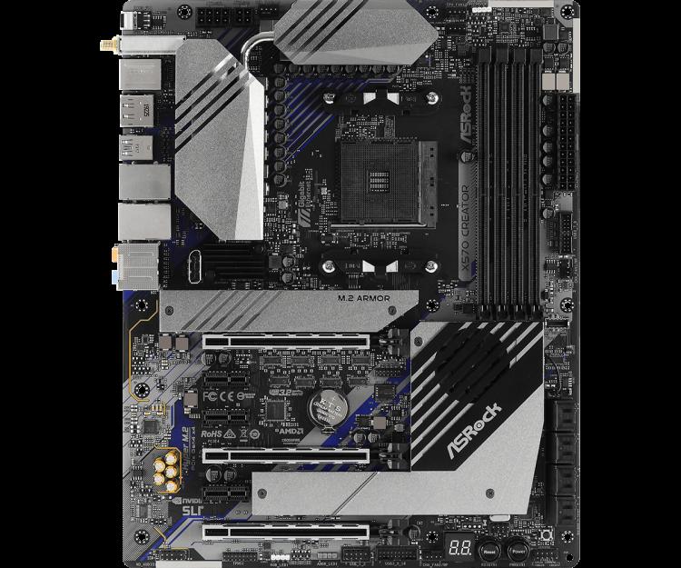 Asrock X570 Creator (AMD AM4) DDR4 X570 Chipset ATX Motherboard