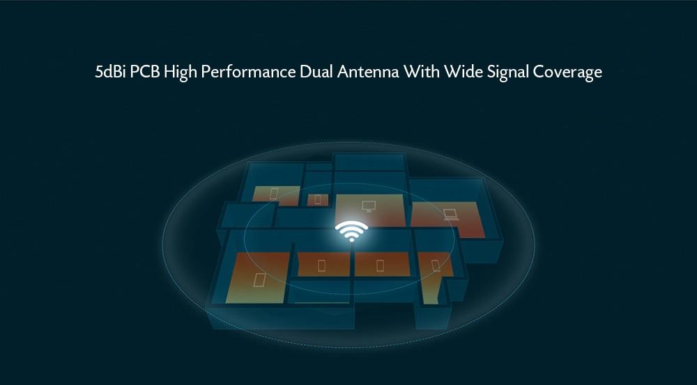 HUAWEI WS318n Wireless Router Two 5dBi Antennas LDPC- White