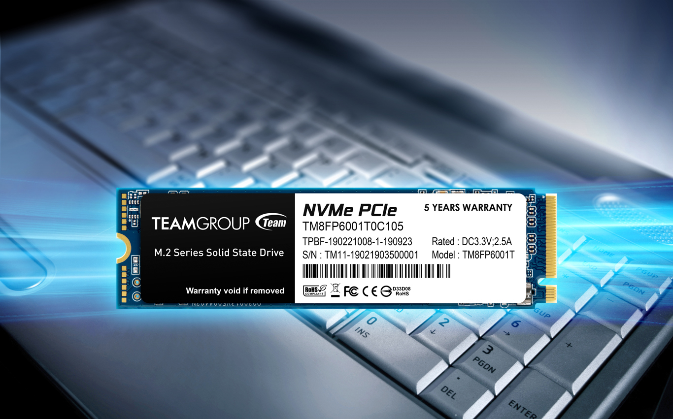 Teamgroup MP33 M.2 PCle SSD Face forward