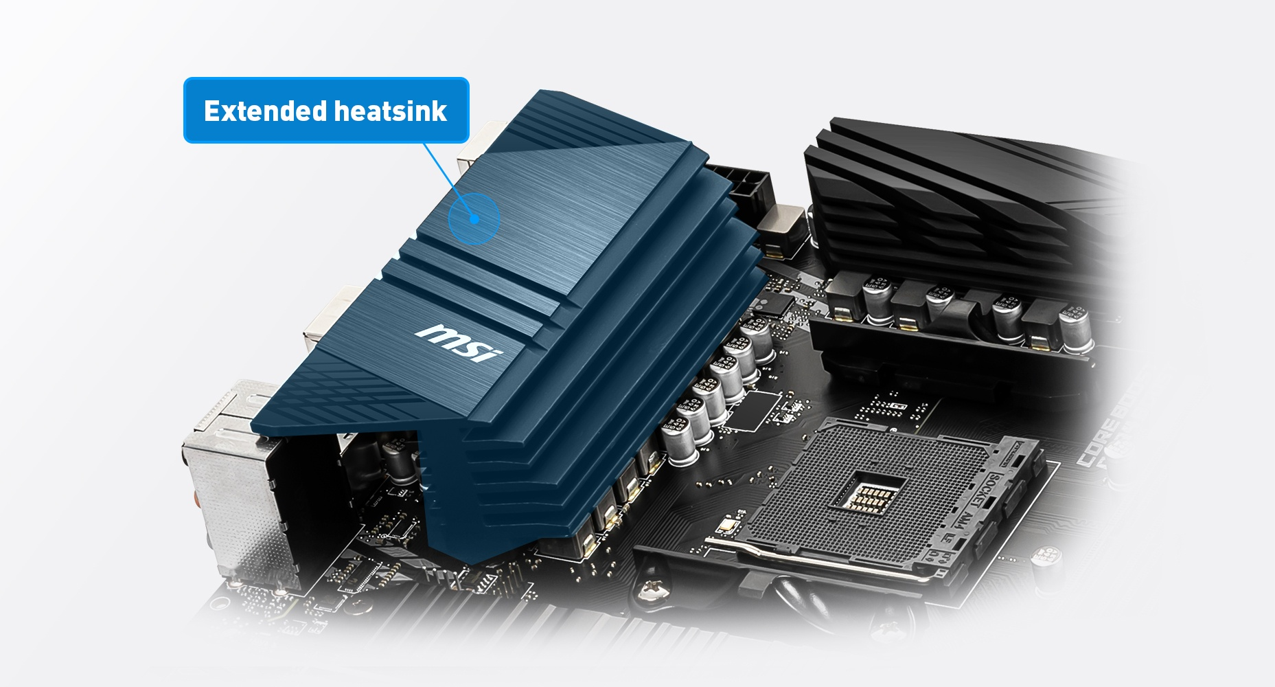 extedned  heatsink of the motherboard