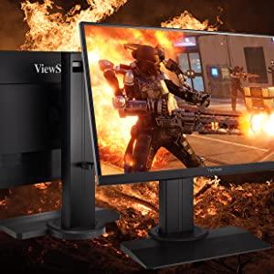 viewsonic lcd gaming monitor advanced ergonomics tilt pivot swivel