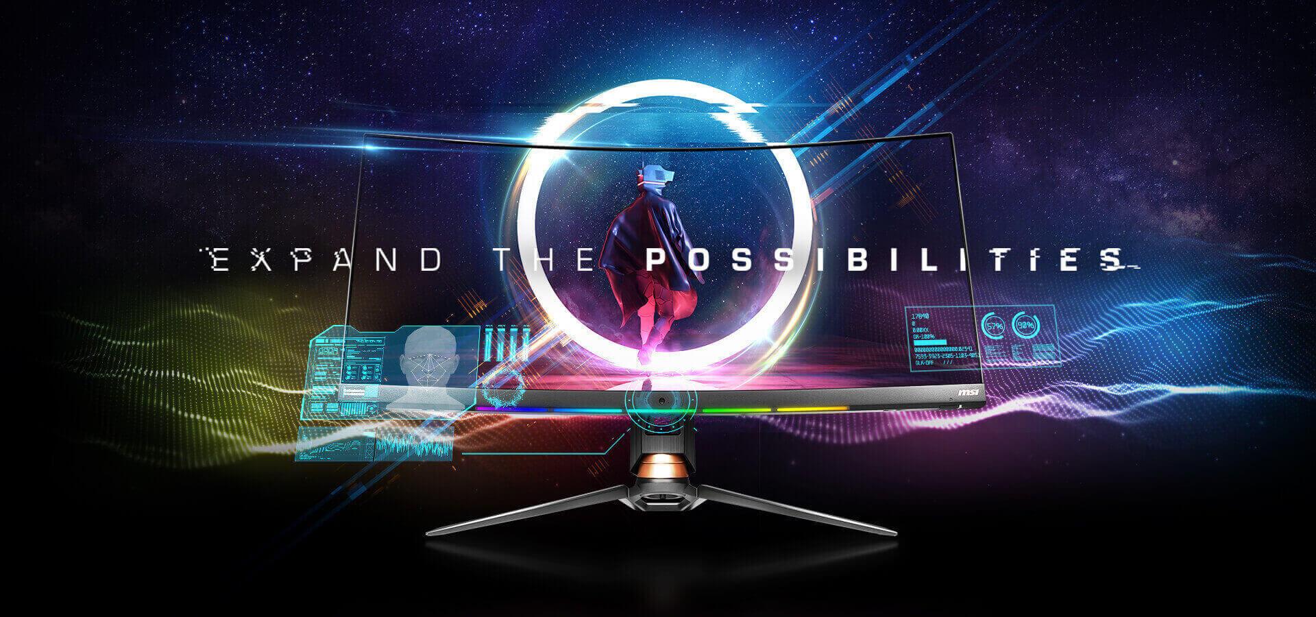 KV, a vivid color image as a monitor screen