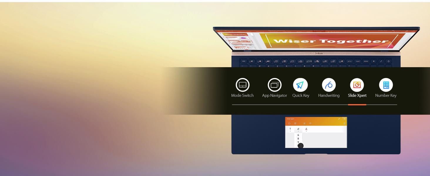 ScreenPad 2.0: Slide Xpert