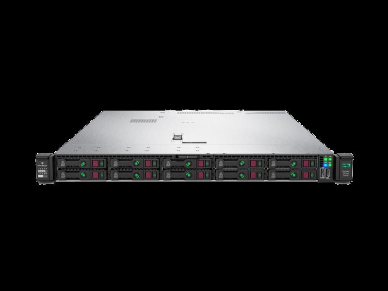 HPE ProLiant DL360 Gen10 4208 1P 16GB-R P408i-a NC 8SFF 500W PS Server Right facing