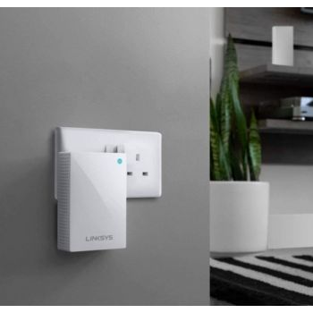 Linksys WHW0101P Velop Dual-Band Whole Home Mesh WiFi Extender (AC1300, Wall Plug-In, Works with Your Velop System to Extend Range & Speed, up to 1,500 sq.ft, White) | WHW0101P-ME
