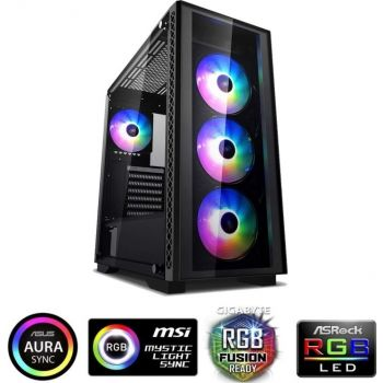 High-End Gaming PC - Great for PUBG & Fortnite & Overwatch (i7-9700, 16GB RAM, RTX 2070, 1TB HDD + 1TB NVMe SSD, 700W PSU, DOS)