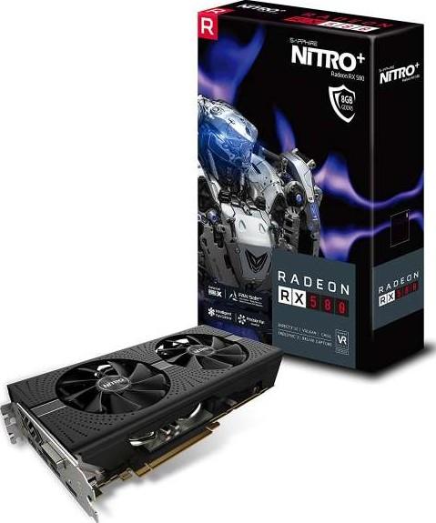 Sapphire Nitro+ Radeon RX 580 8G GDDR5 Dual HDMI DVI D Dual DP OC W BP UEFI  11265 01 20G