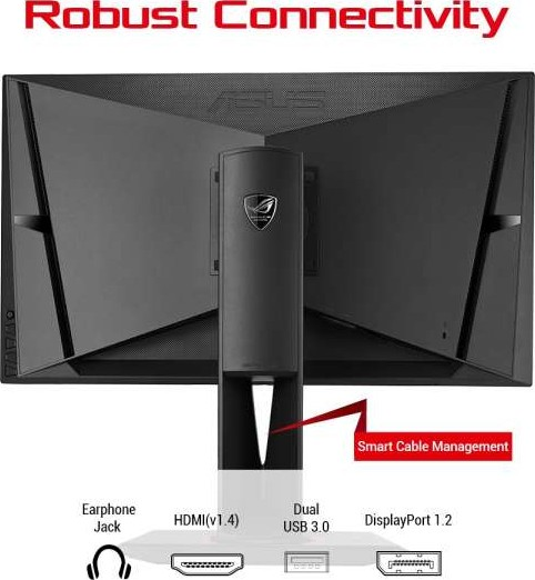 ASUS ROG SWIFT PG278QR 27 INCH WQHD 2560 x 1440 Gaming monitor, 1ms, up to  165Hz, DP, HDMI, USB3 0