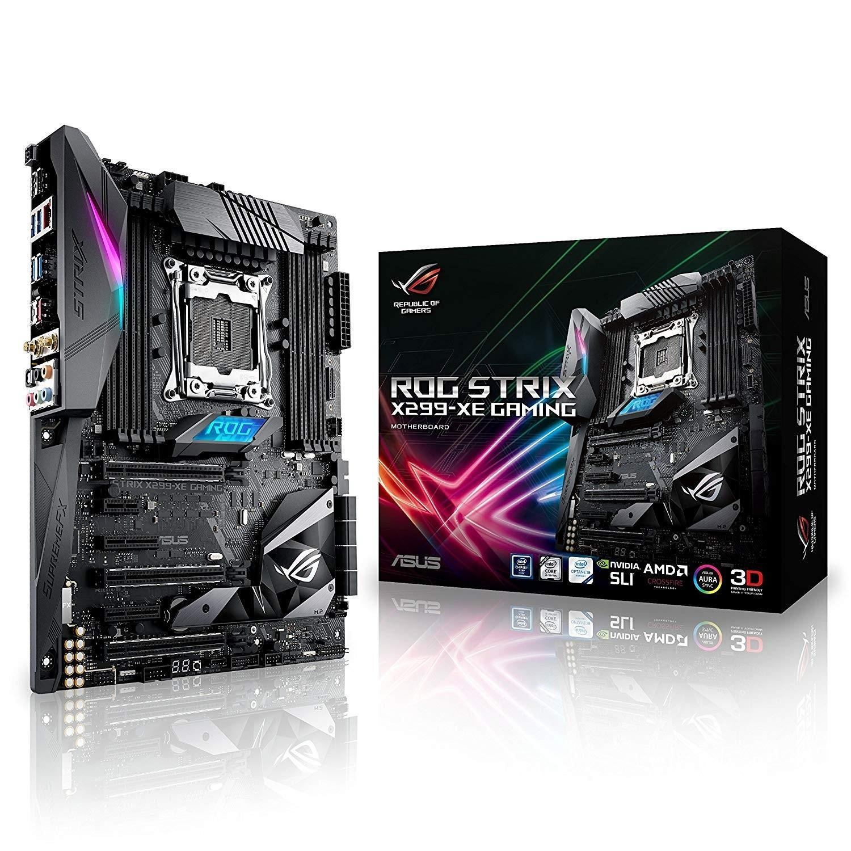 ASUS ROG STRIX X299 XE GAMING LGA2066, Core X Series Processors, DDR4, M 2,  USB 3, WiFi X299 ATX M