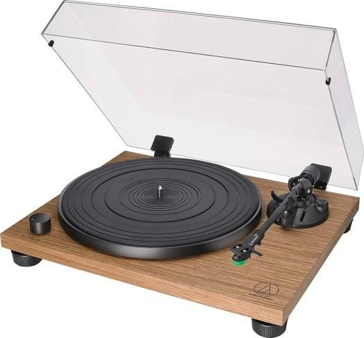 Audio-Technica AT-LPW40WN Fully Manual Belt-Drive Turntable, 2 Speeds, Dynamic Anti-Skate Control, Carbon-Fiber Tonearm | AT-LPW40WN