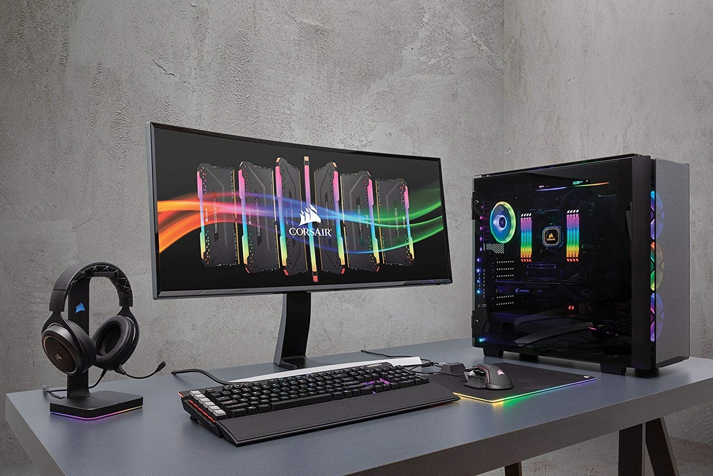 CORSAIR VENGEANCE RGB PRO 16GB 2x8GB DDR4 3600MHz C18 LED Desktop Memory  Black CMW16GX4M2C3600