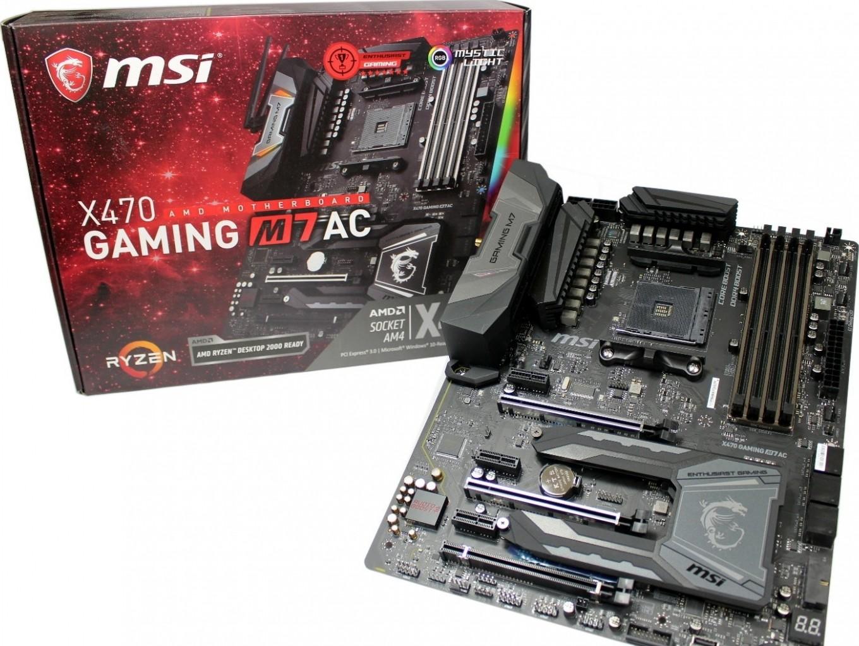 MSI X470 GAMING M7 AC AM4 AMD X470 SATA 6Gb/s ATX Motherboard | 911-7B77-001