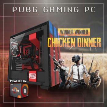 PUBG Gaming PC powered by AMD Ryzen 7 3700X GeForce RTX 2080 Super 250GB NVME SSD 16GB DDR4 3200MHz 2TB HDD NZXT H700 PUBG - CRFT Limited Edition 850W PSU Win10 Home