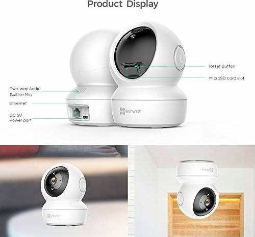 EZVIZ by Hikvision C6N Wireless Full HD 360⁰ View Pan Tilt Indoor Home Camera with Night Vision| Motion Alert on Mobile| 256 GB Slot| Two Way Audio| Sleep Mode (White)  | C6N(CS-C6N-A0-1C2WFR)