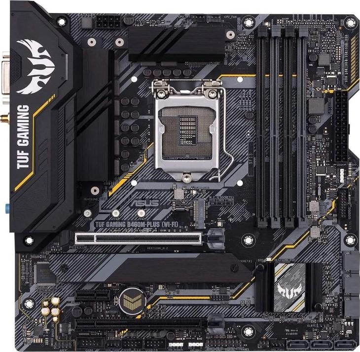 tuf asus b460m plus gaming intel panel wifi gen atx usb connector rgb header lga1200 micro motherboar addressable sync aura