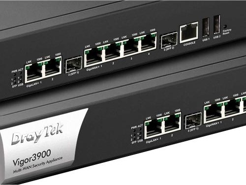 DrayTek Quad WAN Broadband Router w VPN, 4 x Ethernet 1 SFP, 50 WAN ports,  500 simultaneous IPSec