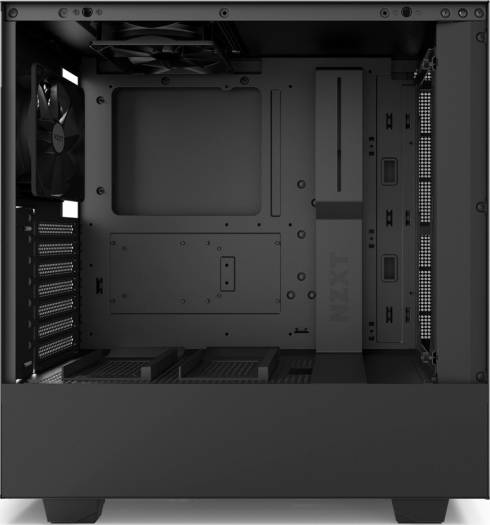 NZXT H500 ATX Mid Tower - Tempered Glass Window - Compact PC Gaming Case - Matte Black | CA-H500B-B1