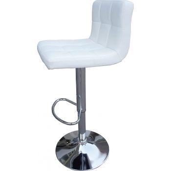 Mahmayi Modern Bar Stool Counter Height Barstools Height Adjustable Bar Stool, Swivel Bar Stool, PU Leather Bar Stool, Stools and Footrest Bar Stool Set of 2 - White | C8541-Bar-Stool -Wht-COMBO