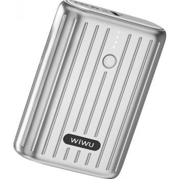 Wiwu Remova 10000mAh Mini Power Bank - Silver   JC-08S