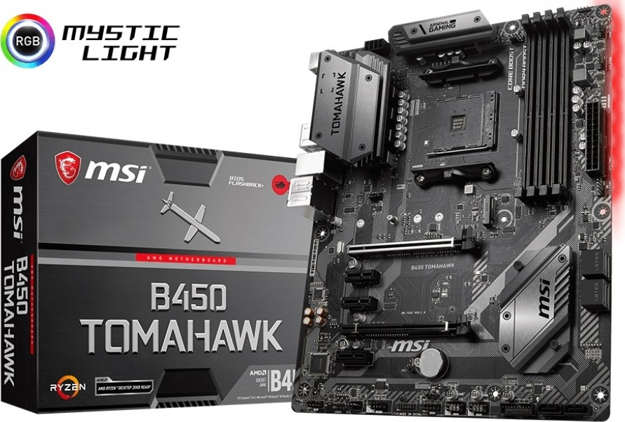 MSI B450 TOMAHAWK AMD Ryzen 1st and 2nd Gen. AM4 AMD B450 SATA 6Gb/s M