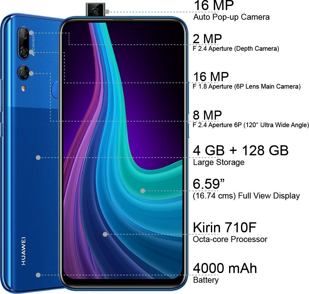 Huawri Y9 Prime 2019 64 GB DS 4G Arabic Midnight Black   Y9 Prime Buy, Best  Price in Saudi Arabia, Riyadh, Jeddah, Medina, Dammam, Mecca