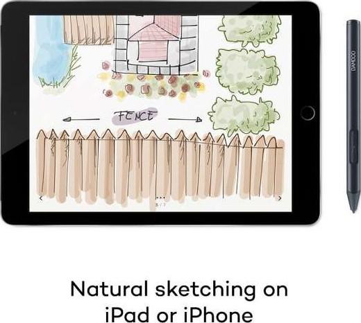CS-610PK Black fine tip Stylus by, Natural Sketching on iPad and iPhone Wacom CS610PK Bamboo Sketch
