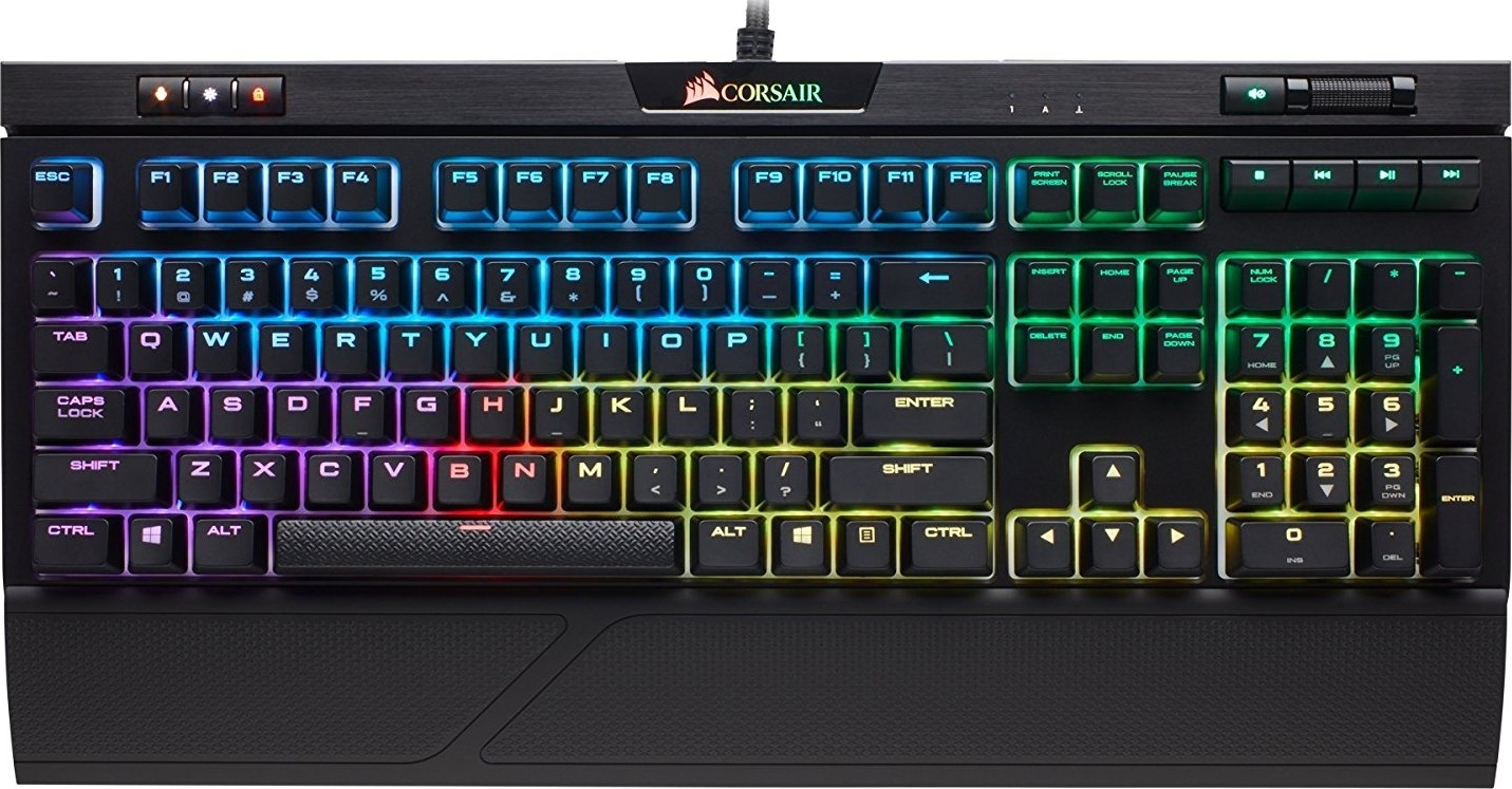 feaa80cc8a9 CORSAIR Strafe RGB MK.2 Mechanical Gaming Keyboard - USB Passthrough -  Linear and Quiet