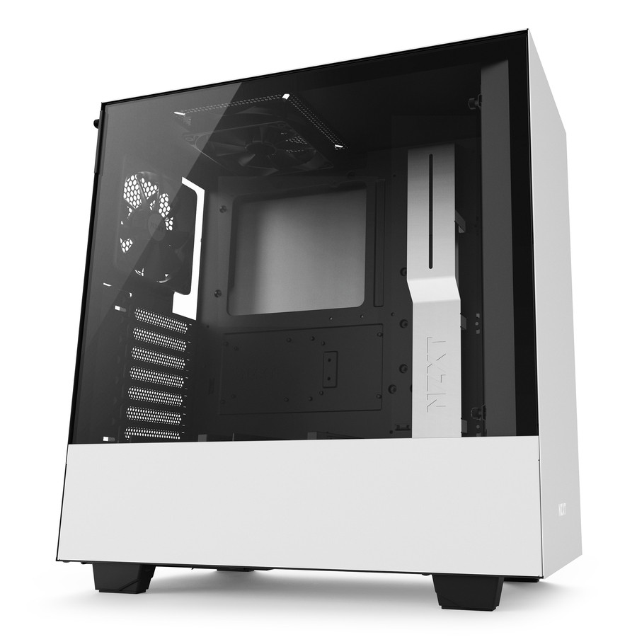 NZXT H500 ATX Mid Tower - Tempered Glass Window - Compact PC Gaming Ca