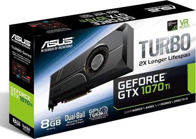 ASUS TURBO GeForce GTX 1070 Ti 8G Graphics Card 8GB GDDR5, 256 bit, PCI e  3 0 TURBO GTX1070Ti 8G