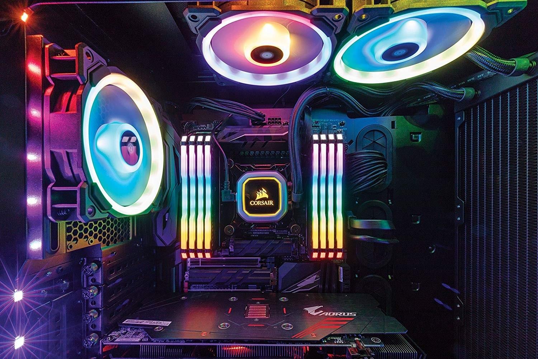 CORSAIR VENGEANCE RGB PRO 16GB 2x8GB DDR4 3200MHz C16 LED Desktop Memory  Black CMW16GX4M2C3200
