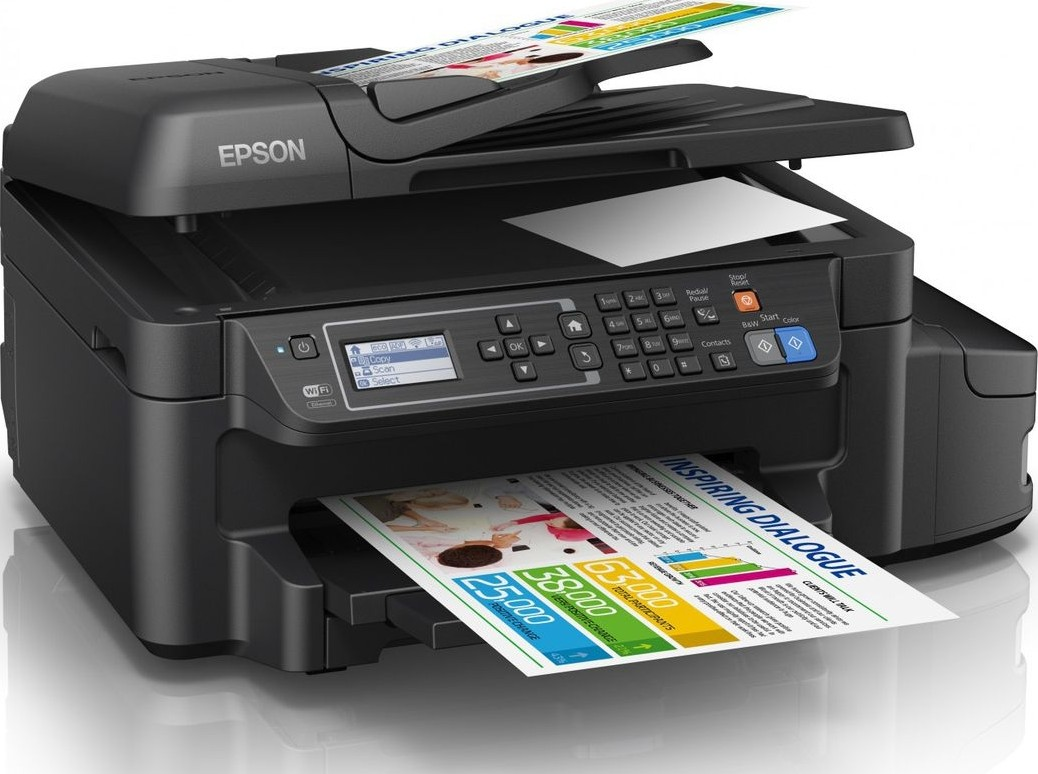 Epson L655 4 in 1 Ink Tank Printer Print, Scan, Copy, Fax, Wi Fi and  Ethernet Connectivity Black